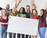 People Friendship Arms Raised Celebration Happiness Copy Space B Royalty Free Stock Image