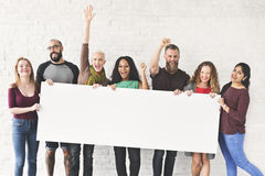 People Friendship Arms Raised Celebration Happiness Copy Space B Stock Photo