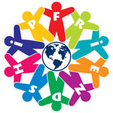 Vector people friendship icon Royalty Free Stock Photo