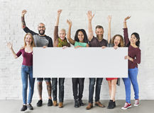People Friendship Togetherness Copy Space Banner Concept Stock Photography