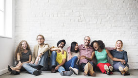 People Friendship Togetherness Leisure Happiness Concept.  Royalty Free Stock Photos