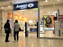 Avanzi by GrandVision fashion store in Rome royalty free stock photos