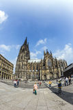 People in front of the Cologne Cathedral Royalty Free Stock Photography