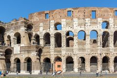 People in front of  Colosseum in city of Rome, Italy. ROME, ITALY - JUNE 23, 2017: People in front of  Colosseum in city of Rome, Italy Royalty Free Stock Photography