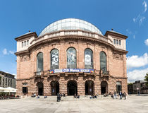 People in front of  famous Staatstheater in Mainz Royalty Free Stock Images