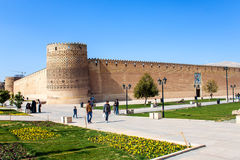 People in front of  Karim Khan citadel Royalty Free Stock Images