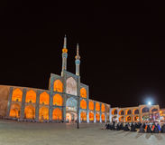 People in front of the mosque in Yazd Royalty Free Stock Image