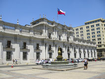 People in front of parliament building in Salvador de Chile Royalty Free Stock Photo