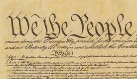 We The People - Front Tight Shot of Preamble Royalty Free Stock Photography