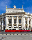 People in front of Vienna State Opera house - the Hofburg Stock Photography