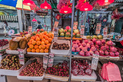 People fruit market Mong Kok Kowloon Hong Kong Royalty Free Stock Photo