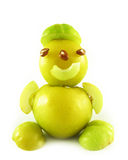People from fruits of quinces Royalty Free Stock Photo