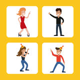 people funny party karaoke dance Stock Photography