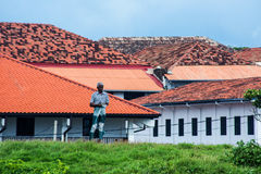 People in Galle Town, Sri Lanka. This image was taken in Galle city, Sri Lanka Stock Photo