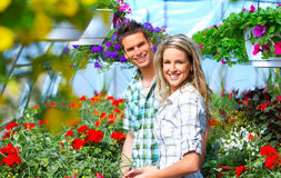 People in the garden Stock Photography