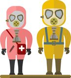 People in gas mask Royalty Free Stock Photos