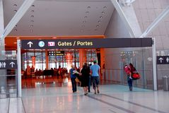 People gate airport Royalty Free Stock Image