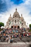Sacre cour steps before sunset Stock Photography