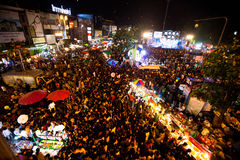 People gathered  during the New Year celebrations Royalty Free Stock Photos