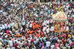 People gathering on event of raathyatra Royalty Free Stock Photography