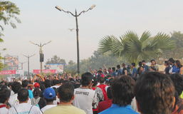 People gathering, Hyderabad 10K Run Event, India Stock Photography