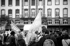 People gathering at the March for Jesus the annual interdenominational event in which Christians march. STRASBOURG, FRANCE - MAY 30, 2015: People gathering at Stock Photo