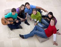 People gathering playing music Stock Images