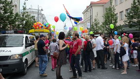 People gay parade prepare Stock Image