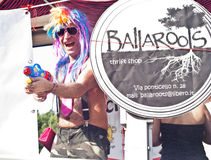 People at Gay Pride 2013 in Palermo Stock Images