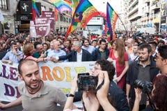People at gay pride parade 2013 in Milan, Italy Royalty Free Stock Photography