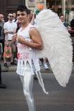 People at gay pride parade 2013 in Milan, Italy Royalty Free Stock Photos