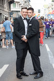 People at gay pride parade 2013 in Milan, Italy Stock Photos