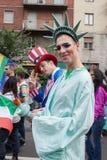 People at gay pride parade 2013 in Milan, Italy Royalty Free Stock Image
