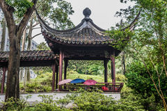 People gazebo Kowloon Walled City Park Hong Kong Stock Image