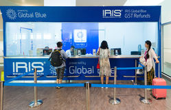 People get GST refund in Kuala Lumpur airport Stock Image