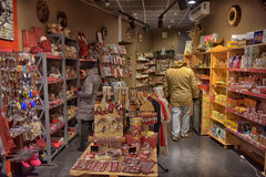 People in the gift shop Royalty Free Stock Photography