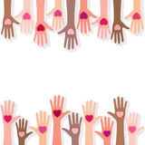People giving their love. Background Stock Photo