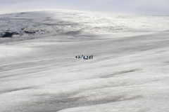 People on glacier Stock Photo