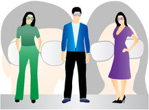 People and glasses stock illustration