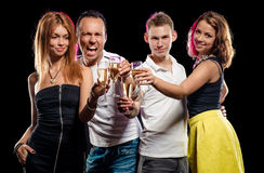 People with glasses of champagne Royalty Free Stock Image