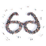 People glasses medical 3d royalty free illustration