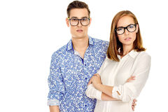 People in glasses Royalty Free Stock Images