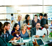 People Global Communication Office Discussion Conversation Concept.  Royalty Free Stock Images
