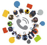 People with Global Communications Concept Stock Image