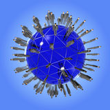 People global network Royalty Free Stock Photos