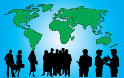 People in the globe Stock Photo