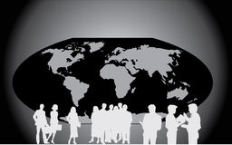 People in the globe Stock Image