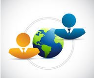 People and globe concept illustration Royalty Free Stock Photos