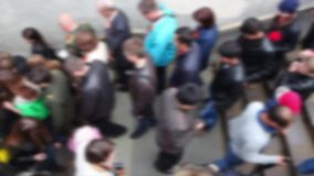 People go down to the underpass.    (no focus) stock footage