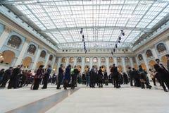 People go in Gostini dvor before Ceremony of rewarding Stock Images